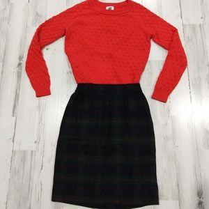 Vintage 90s Clueless Plaid Mini Pencil Skirt